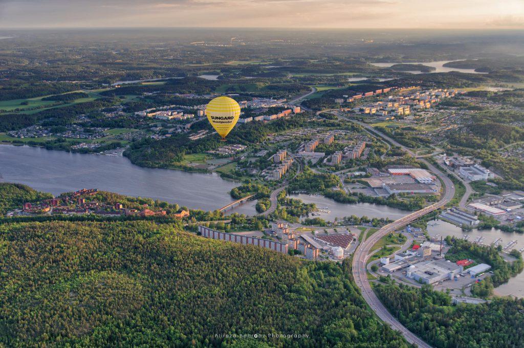 Flying over Stockholm