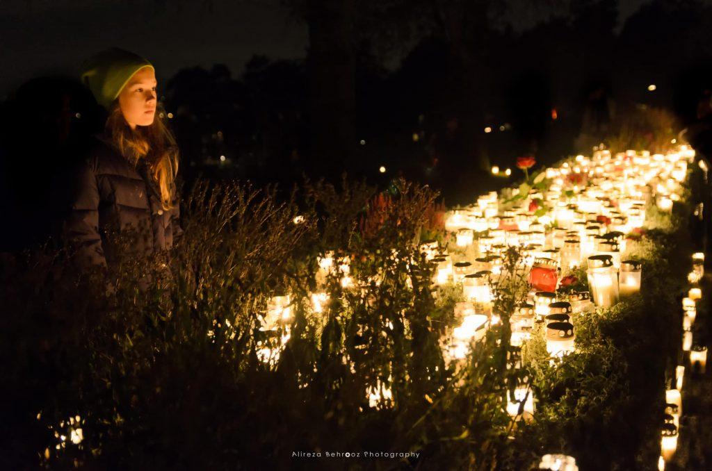 Alla helgons dag/All Saints'day at Skogskyrkogården, Stockholm
