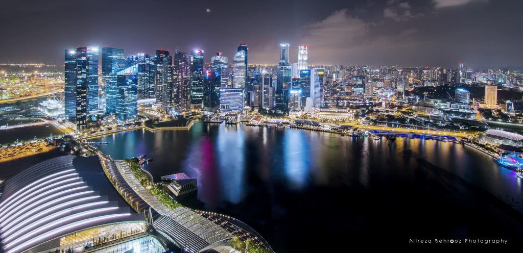 View of Singapore from MBS
