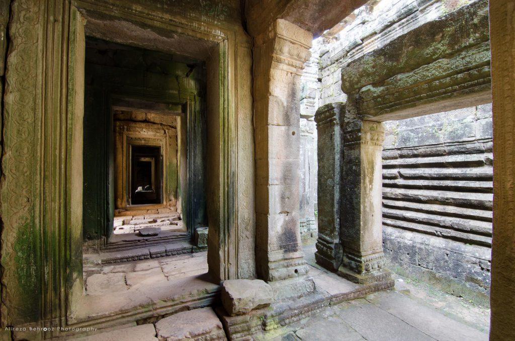 Ancient gates at Bayon temple