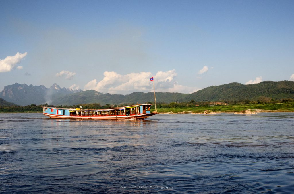 A boat ride on the Mekong River in Laos