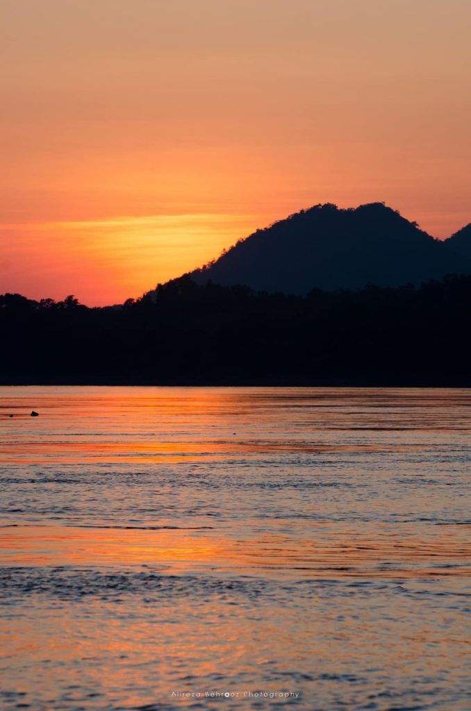 Sunset on the Mekong River, Luang Prabang, Laos