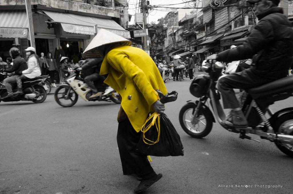 Yellow man passing