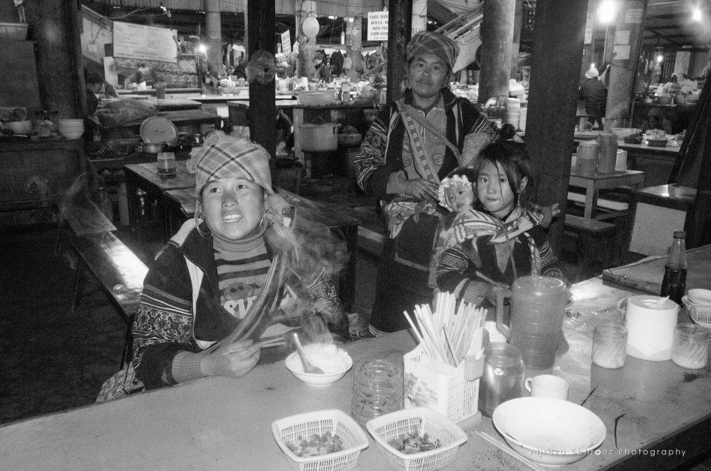 Locals in Sapa food market