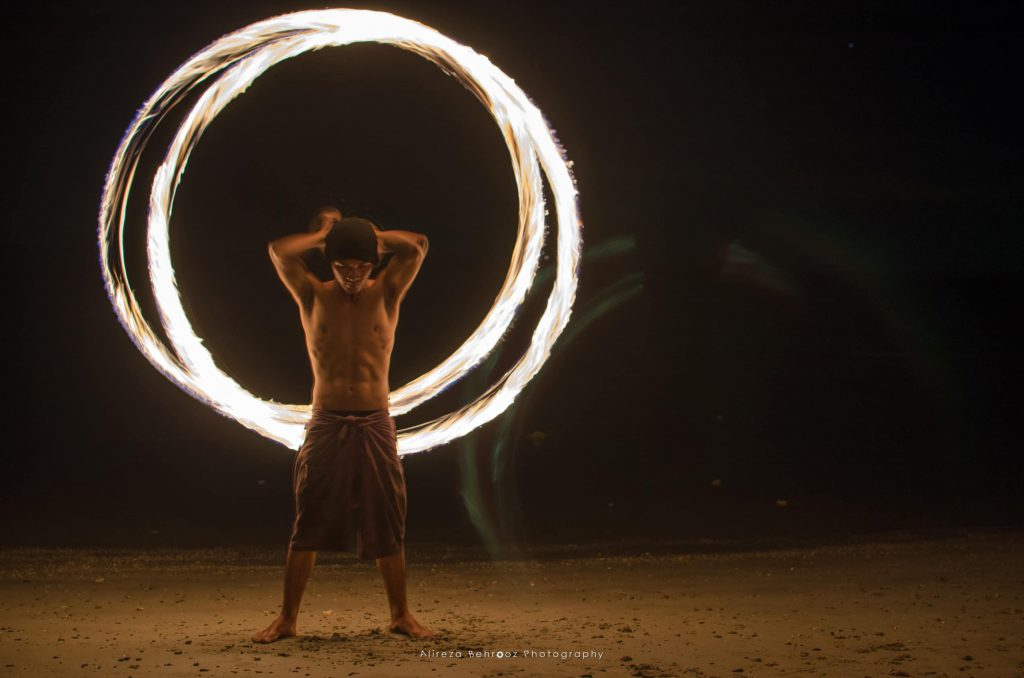 Fire show, Lonely beach, Koh Chang, Thailand