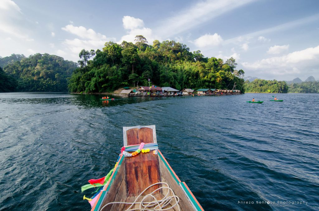 Arriving to Tam Gia floating bungalows