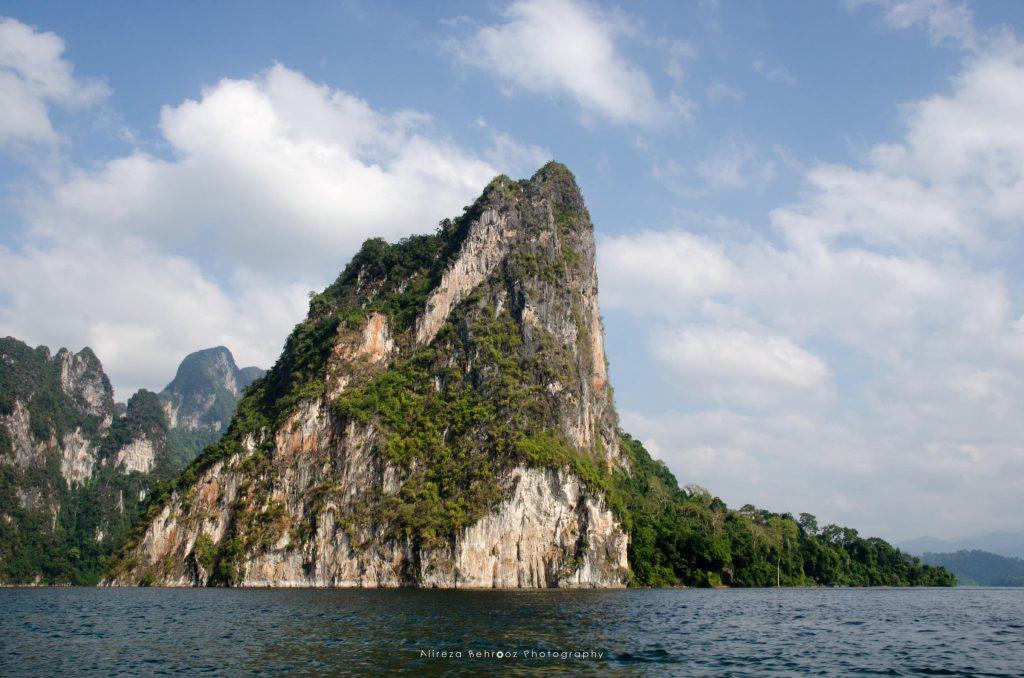Huge limestone at Chiao Lan reservoir, Thailand