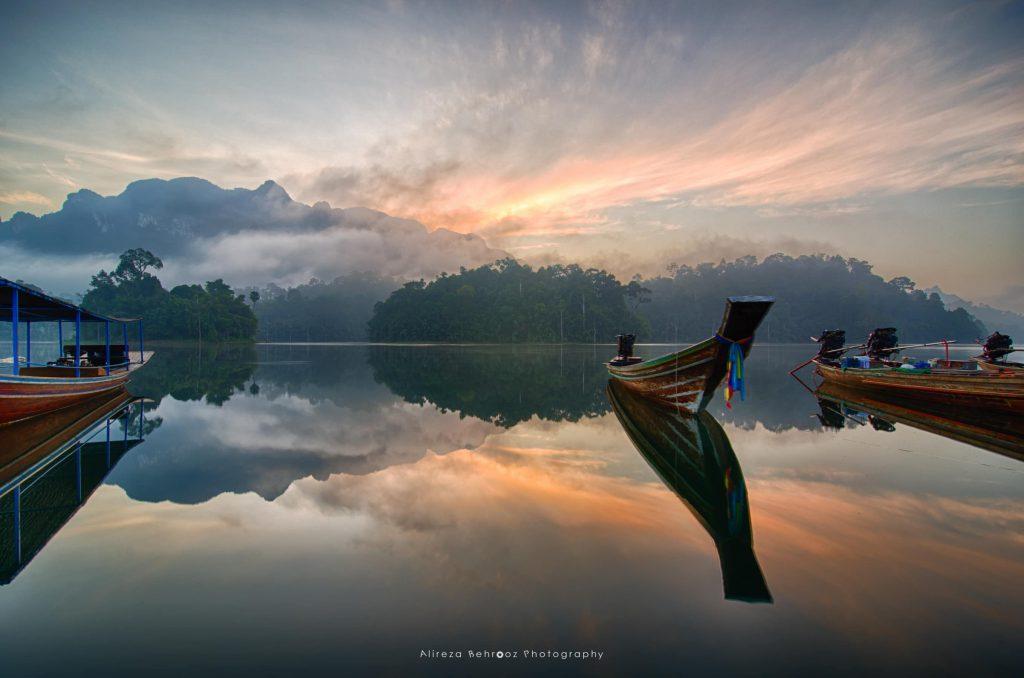 Sunrise at Khao Sok national park, Thailand