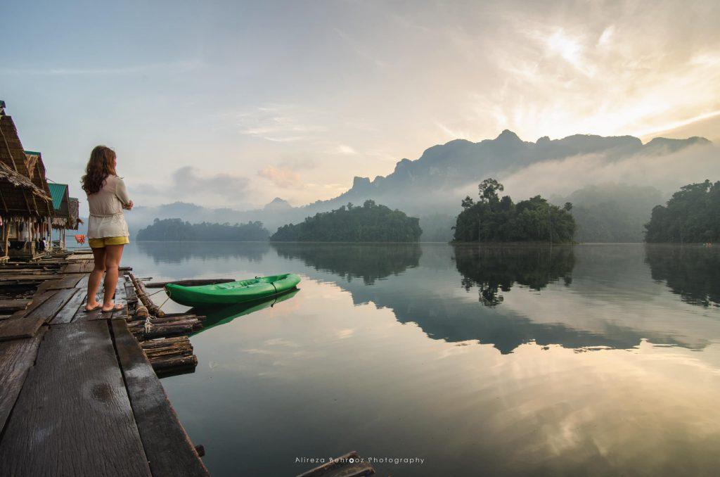 Watching the sunrise, Khao Sok national park, Thailand