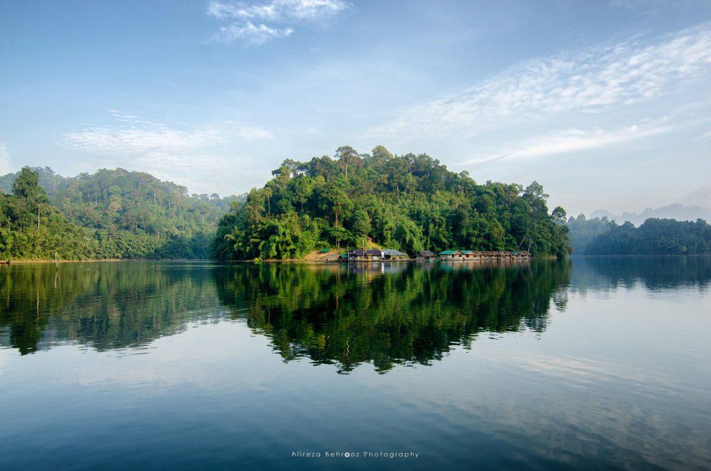 Floating bugalows, Khao Sok national park, Thailand