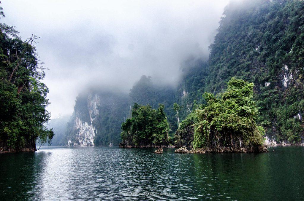 The Limestone Rocks In Cheow Lan Lake, Thailand