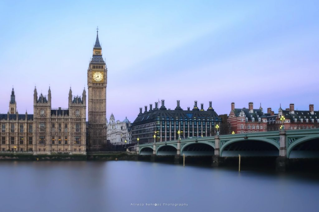 Long exposure shot of big ben, London