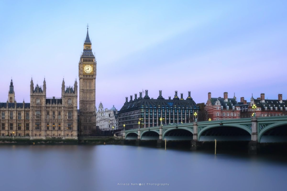Long exposure shot of big ben, London