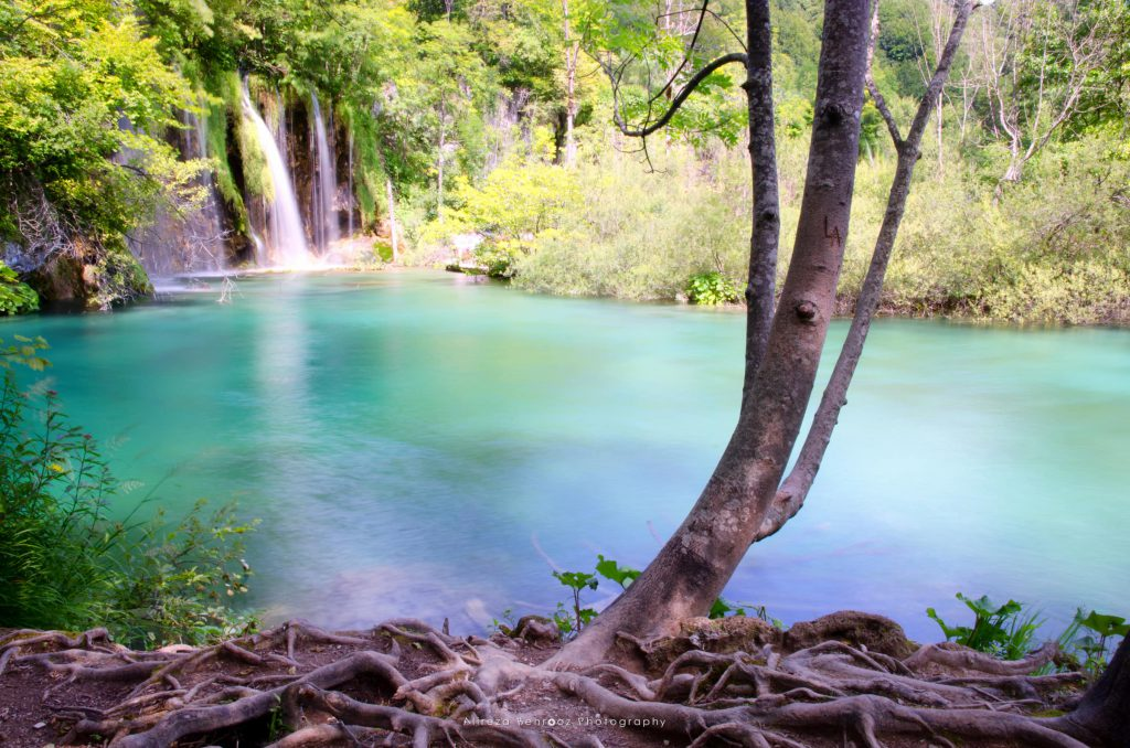Turquoise waters at Plitvice lakes, Croatia