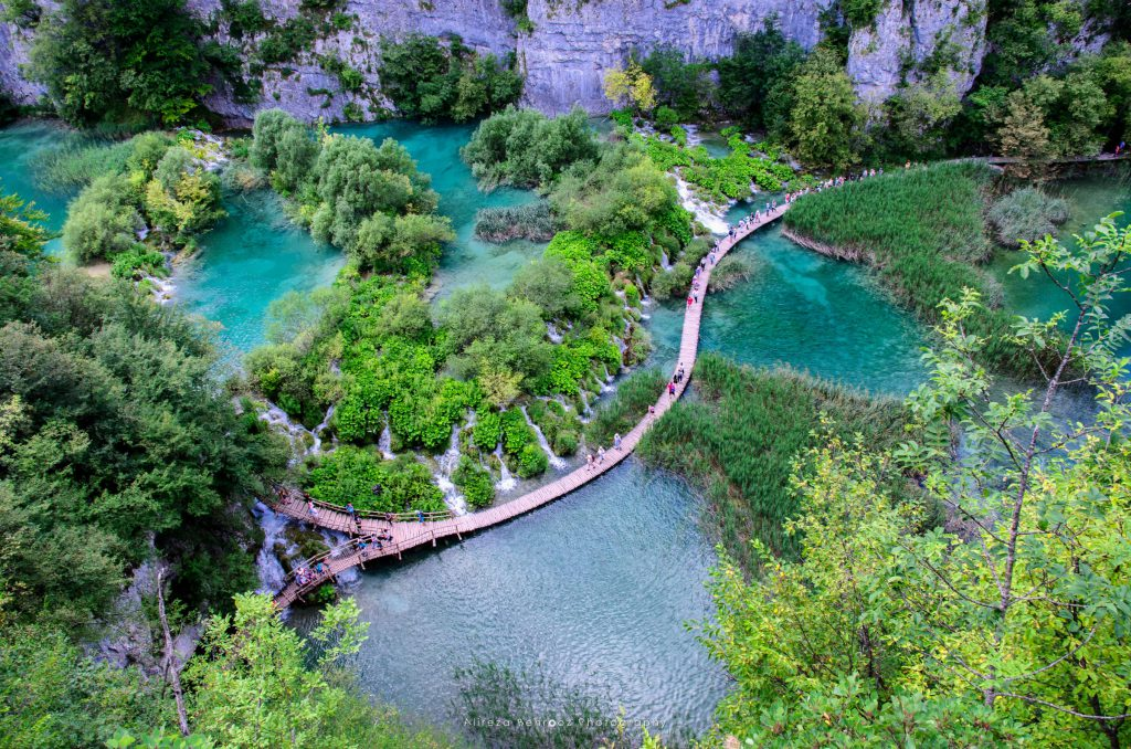 Walkway Between the Lakes at Plitvice Lakes National Park, Croat