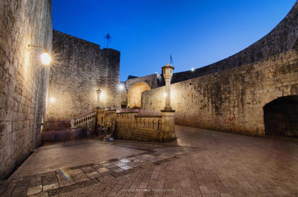 Dubrovnik old town western Entrance. Croatia