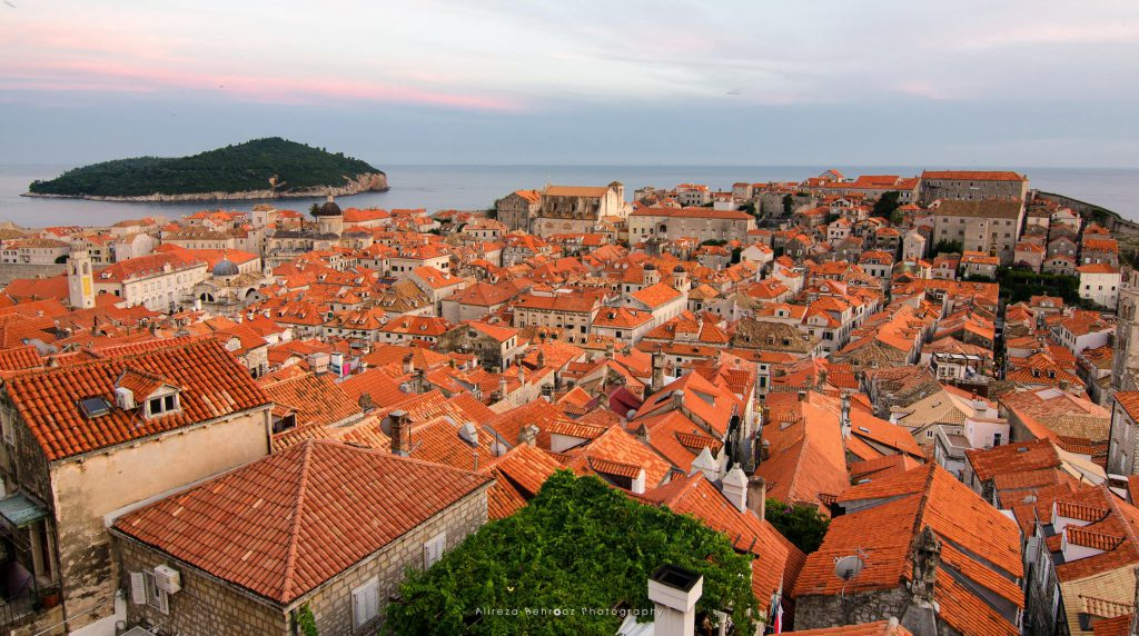 Old Town roofs of Ragusa, Dubrovnik, Croatia