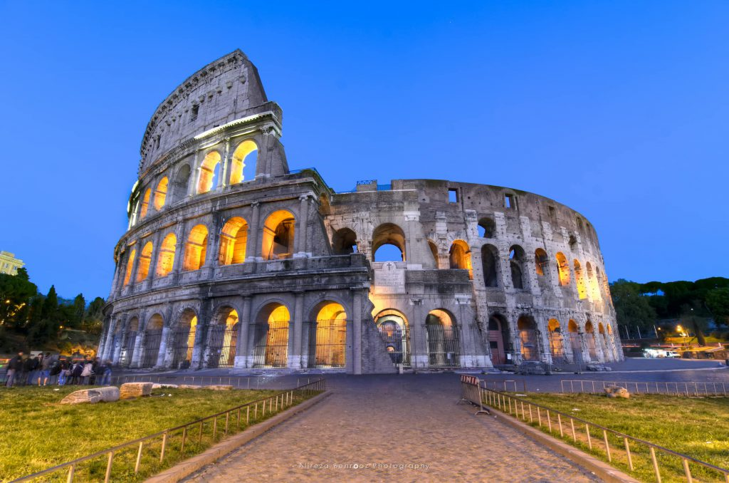 Colosseum at blue huor!