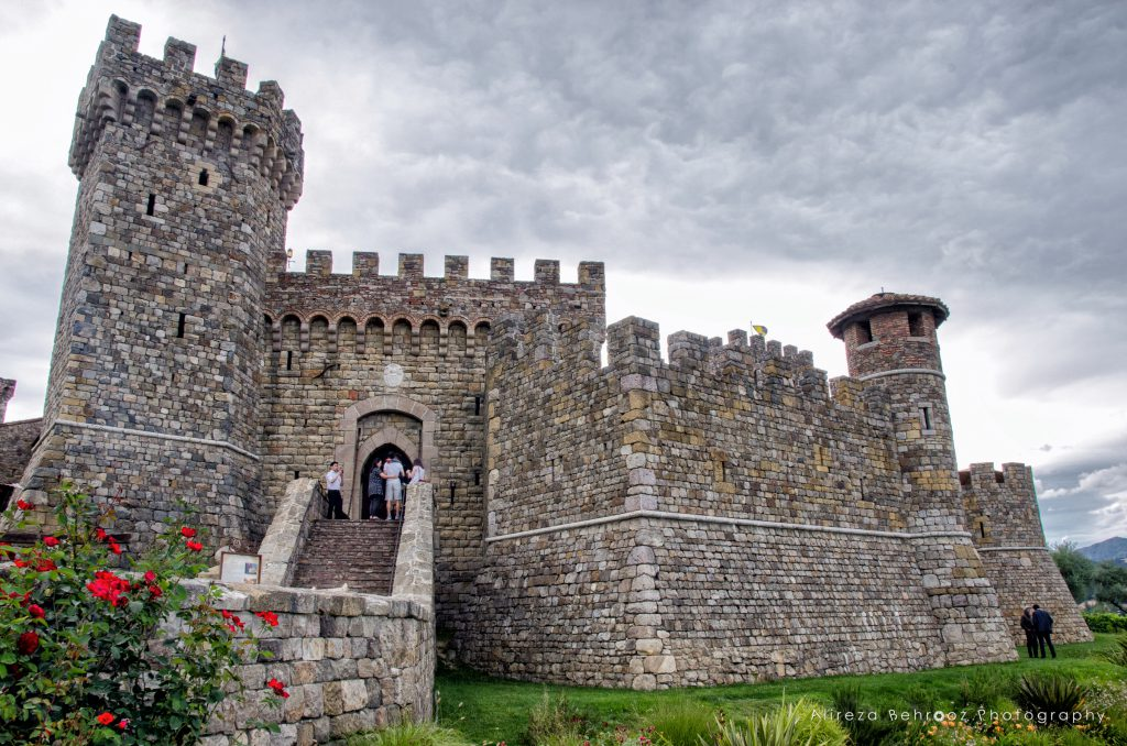 Castello di Amorosa winery. Napa Valley, California, USA
