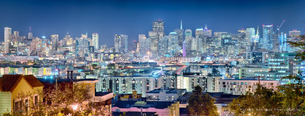 Panoramic view of San Francisco from Potrero hill