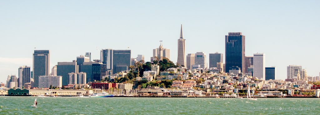 San Francisco skyline from San Francisco Bay