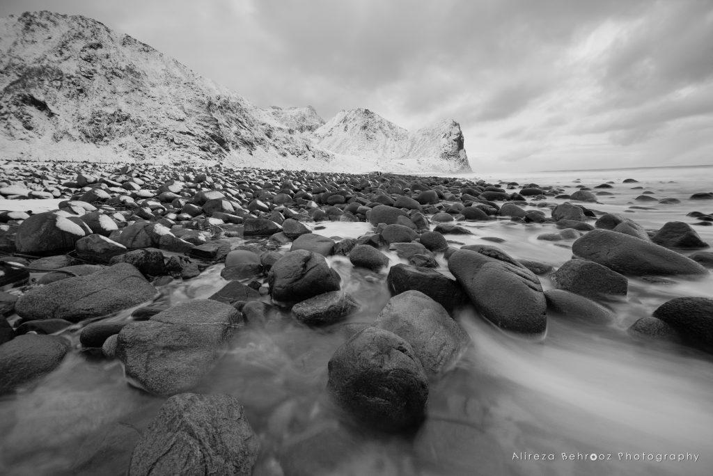 Unstad beach b&w I, Lofoten