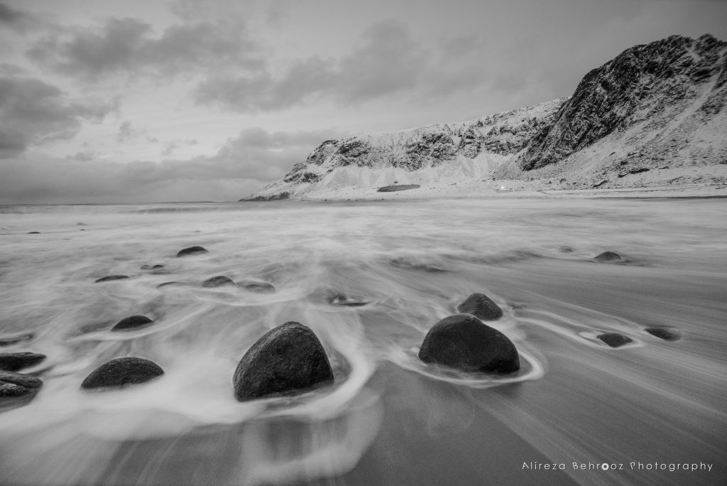 Unstad beach b&w III, Lofoten