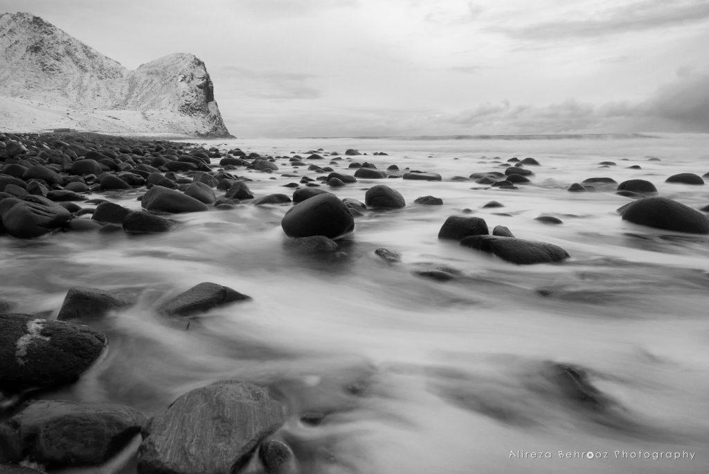 Unstad beach b&w V, Lofoten